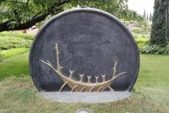 Opera d'arte in metallo per giardino