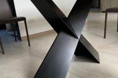 Base tavolo in metallo di design